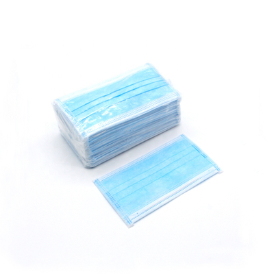 In Stock Non-woven 3 Ply Disposable Face Mask Earloop