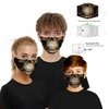 Custom accepted print pattern 3D fashion face mask with filter